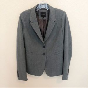 THE LIMITED Gray Fitted Blazer Jacket